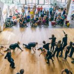 EBYA and young people from Bristol Old Vic's Theatre School, perform to an audience in Colston Hall's lobby.