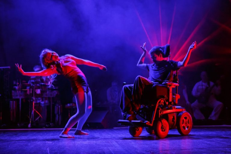 British Paraorchestra and Extraordinary Bodies perform on stage at the Colston Hall 2016