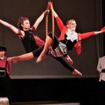 EBYA members Bec and Freya perform a duet on the aerial hoop.