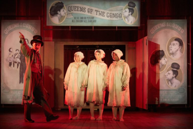 Charlie Suff-Stephanie Booth-Madeleine Schofield-and-Liyah Summers- in The Elephant Man, Bristol Old Vic Theatre School